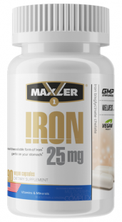 Maxler Iron Bisglycinate Chelate 25 мг (90 кап)